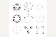 Set of geometric shapes