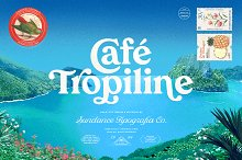 Tropiline Font Family by  in Display Fonts
