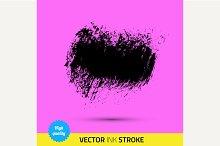 Vector paint brush. Ink stroke.
