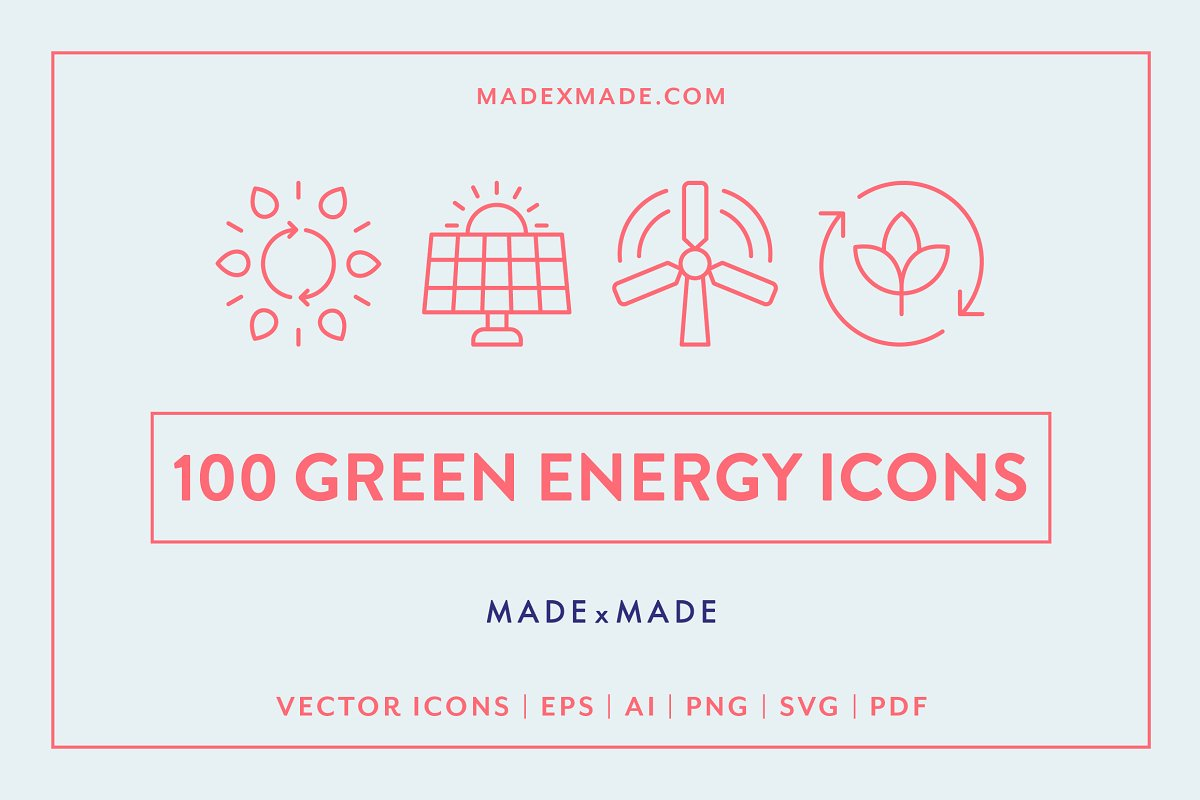 Line Icons – Green Energy ~ Icons ~ Creative Market