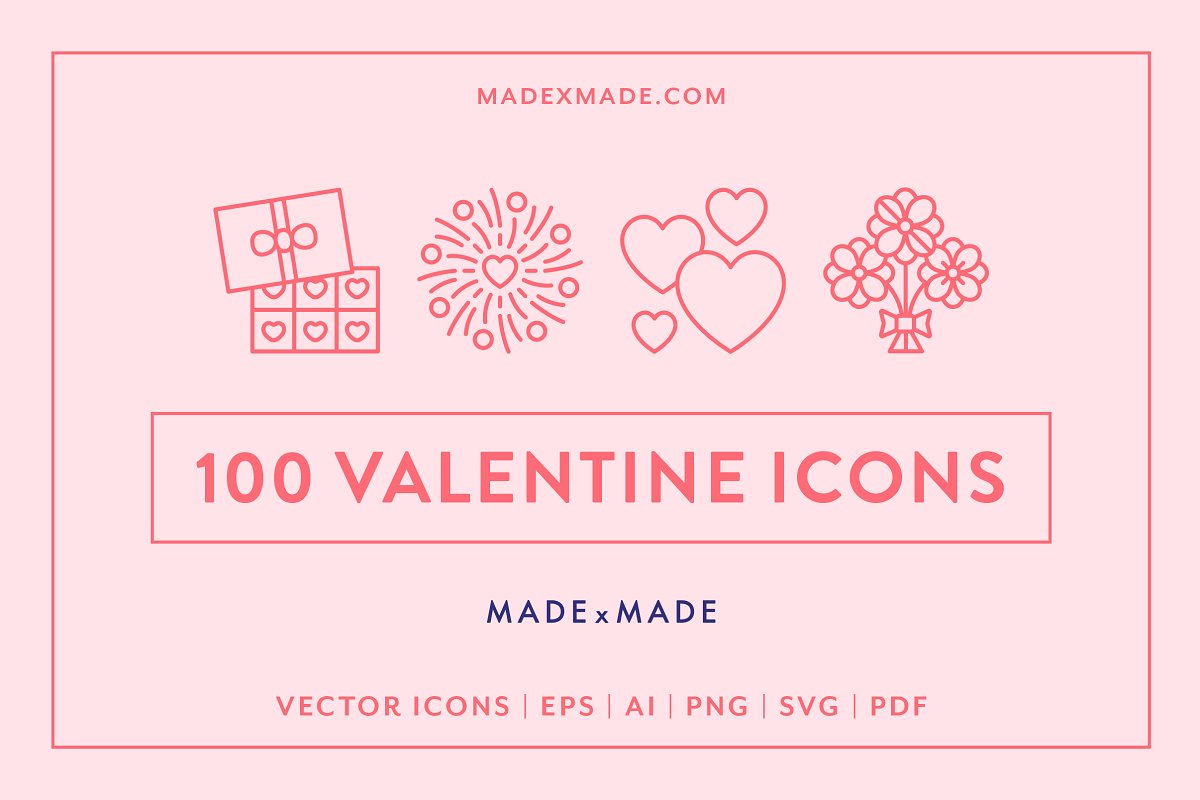 Line Icons – Valentines Day