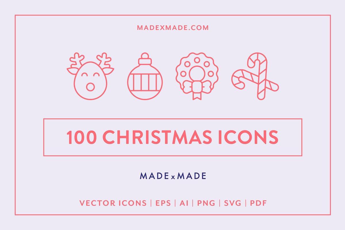 Line Icons – Christmas
