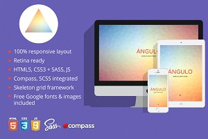 Ángulo -  One Page HTML Template