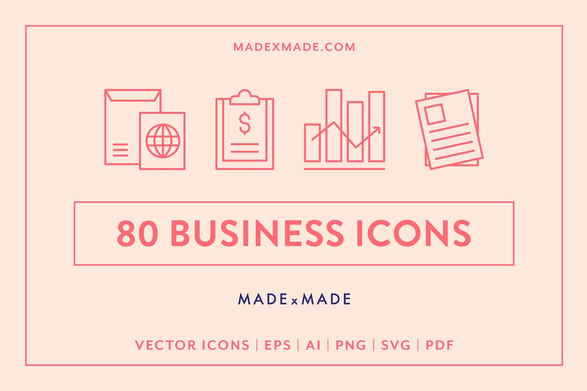 Line Icons – Business