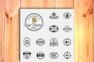 Beer festival set badges