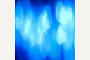 Blue abstract mosaic background.