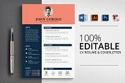 CV Resume 4 Format Template