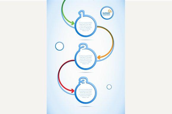 Abstract web design, progress banner