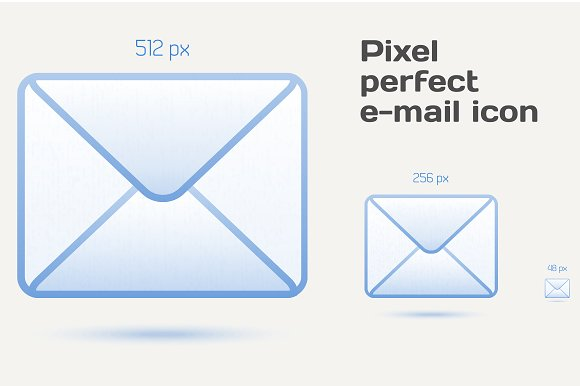 Pixel perfect email icons in Graphics