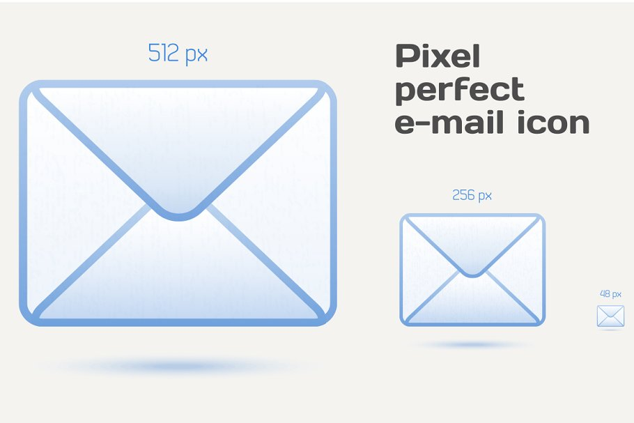 Pixel perfect email icons in Graphics - product preview 8