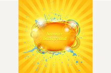 Abstract hot summer background.
