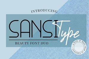 Sansi Type Font Duo