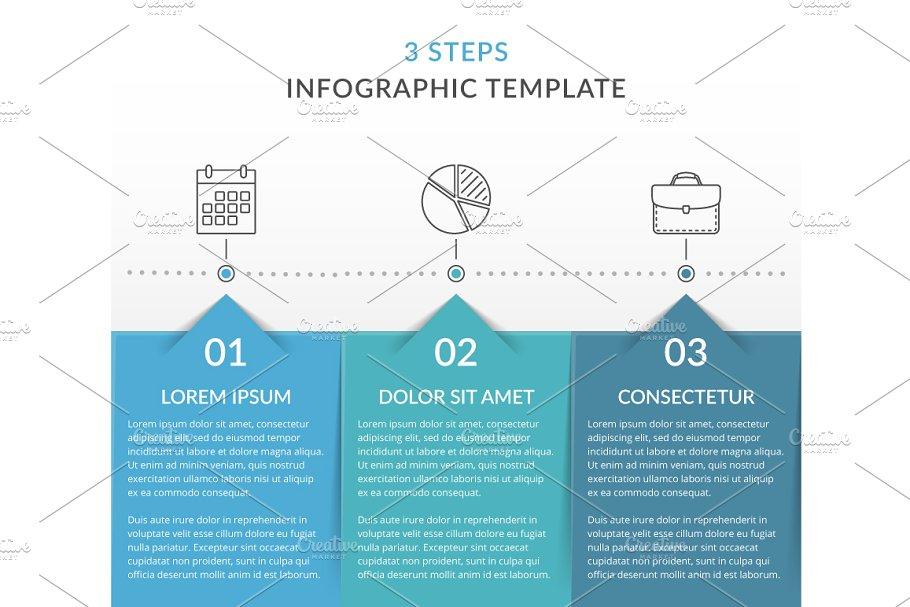 Process Infographics - 3 Steps