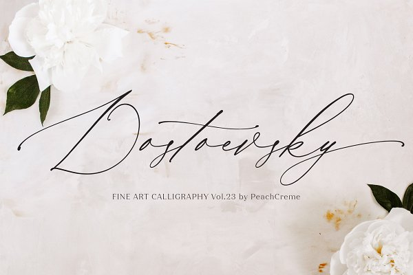 Script Fonts: PeachCreme - Dostoevsky // Fine Art Font SALE!!!