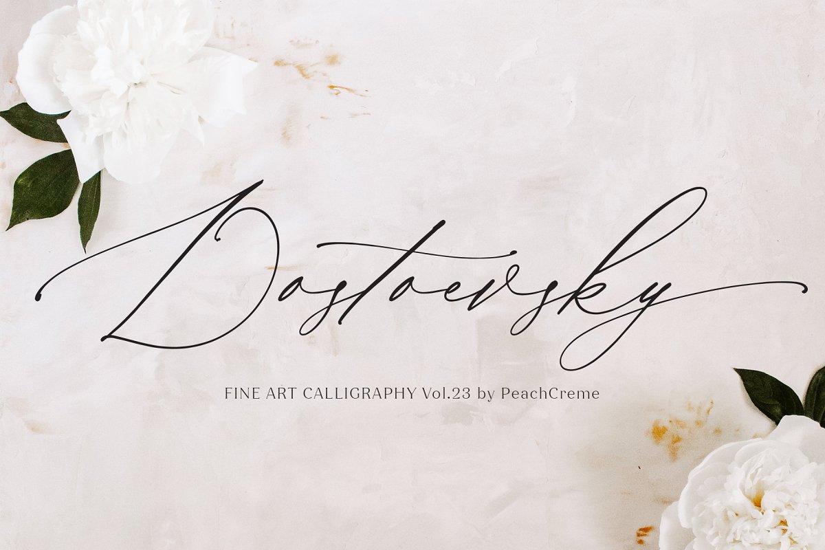 Dostoevsky // Fine Art Font SALE!!!