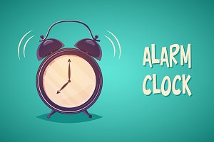 Alarm clock + Seamless pattern