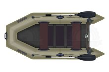 Inflatable boat top view vector