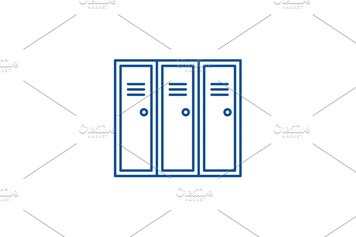 Sports wardrobe line icon concept