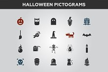 Halloween Pictograms Set