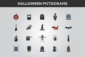 Halloween Pictograms Set