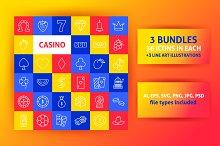 Casino Line Art Icons