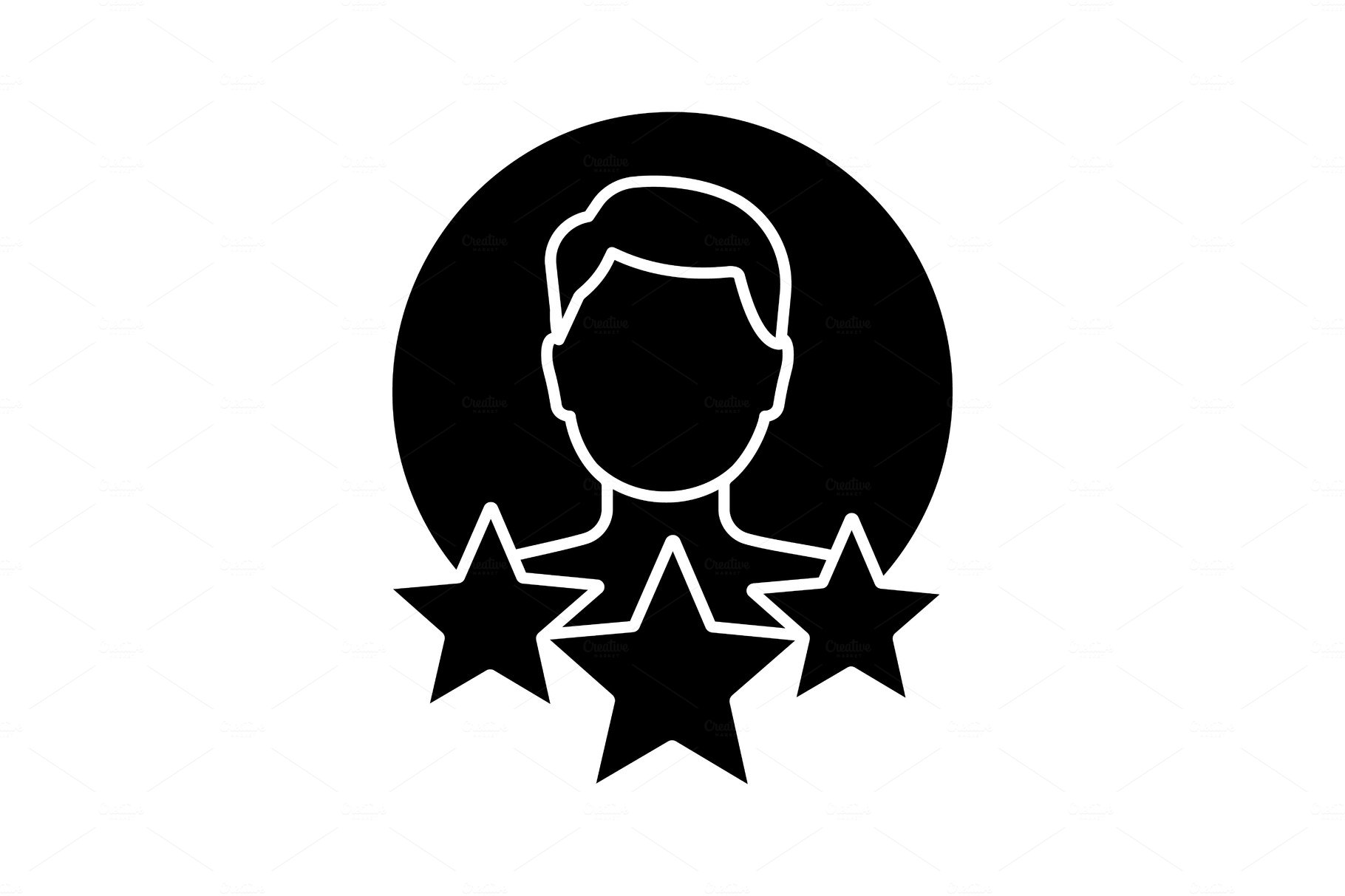 Professional experience glyph icon | Custom-Designed Icons ...
