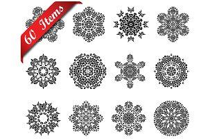 60  Circle Ornaments