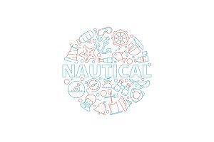 Marine concept. Nautical pictures