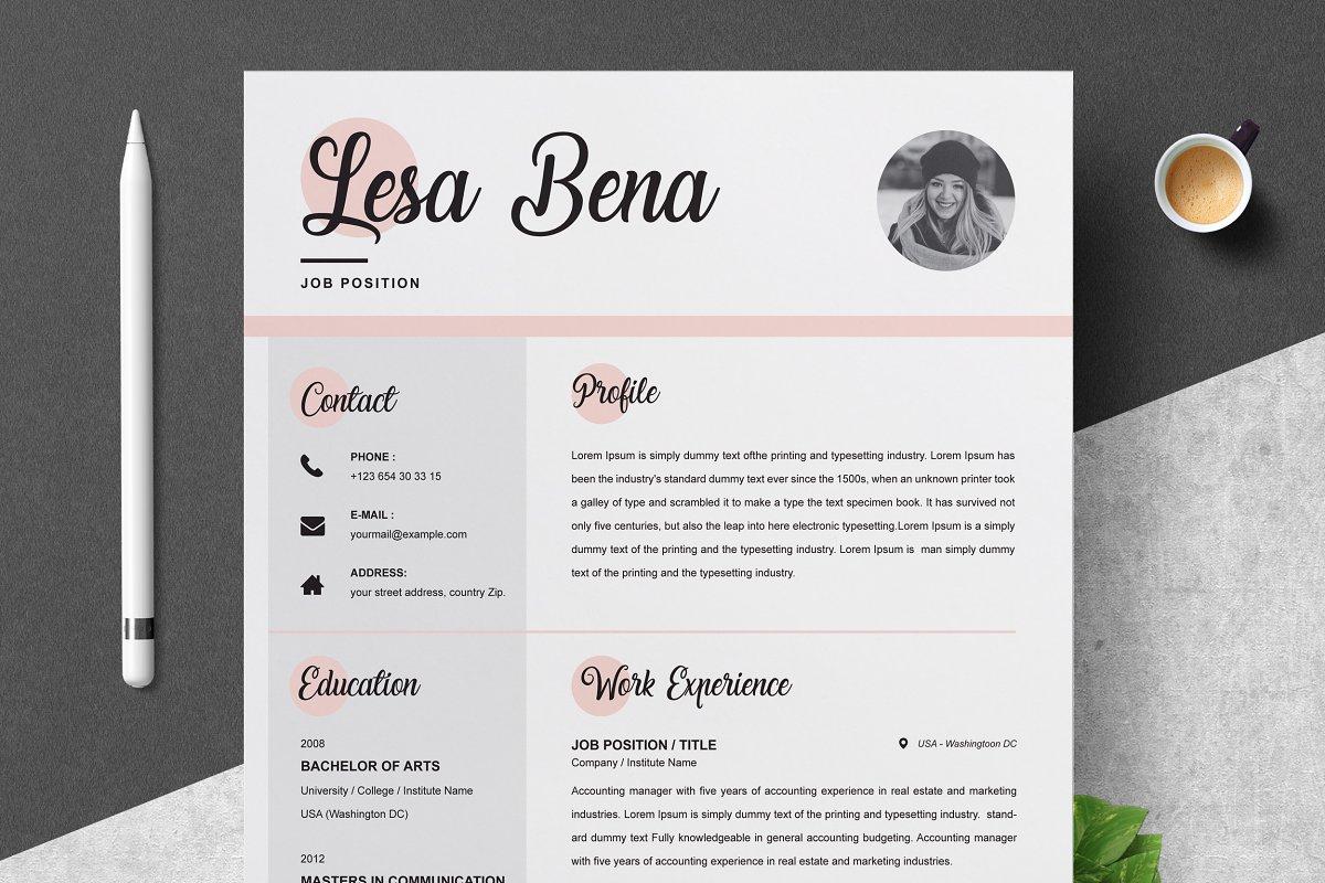 Resume / CV Template & Cover Letter ~ Resume Templates