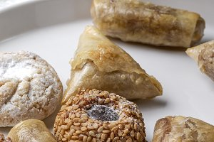 Arab sweets for Ramadan.Homemade