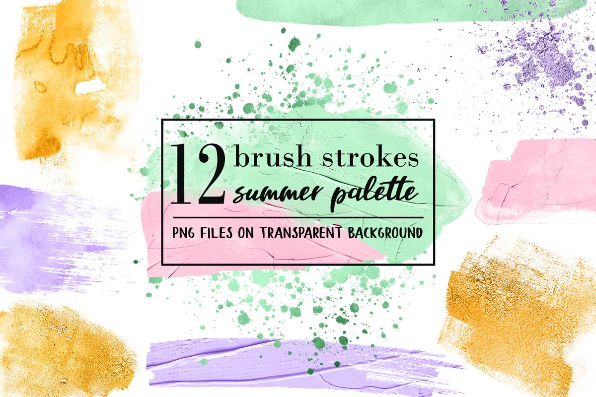 12 Summer paint splatters