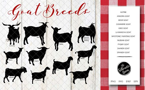Goat Breeds Silhouette