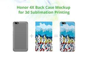 Honor 4X 3d Case Mockup