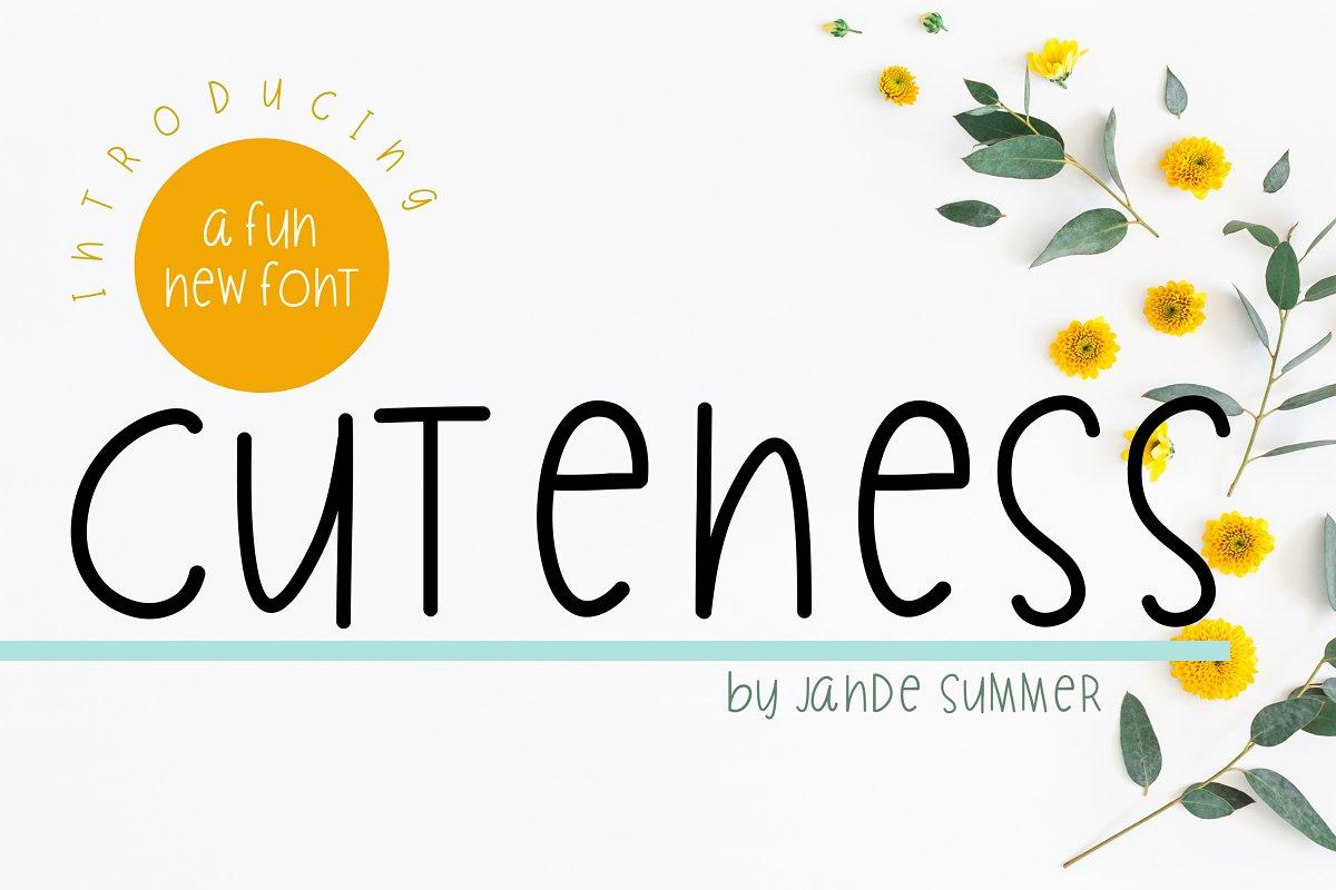 CUTENESS | a fun handwritten font