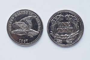Ancent 1 cent coin