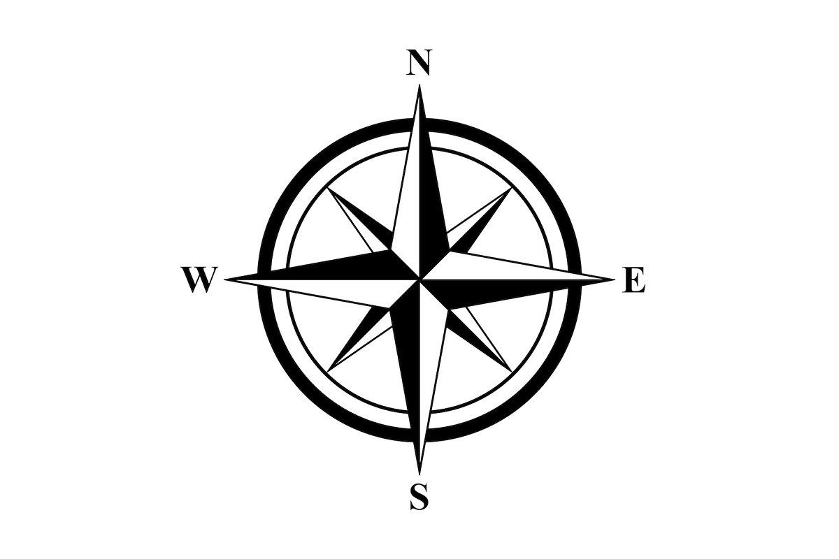 Basic Compass Rose in Objects