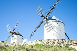 Spanish ancient windmills