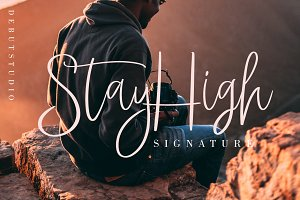 StayHigh ⭐️ Signature Font