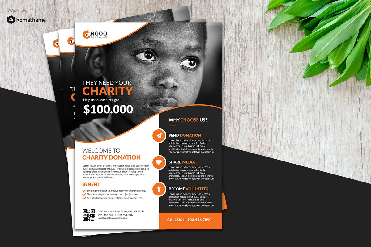 Newest For Ngo Brochure Design With Ngo Brochure Templates