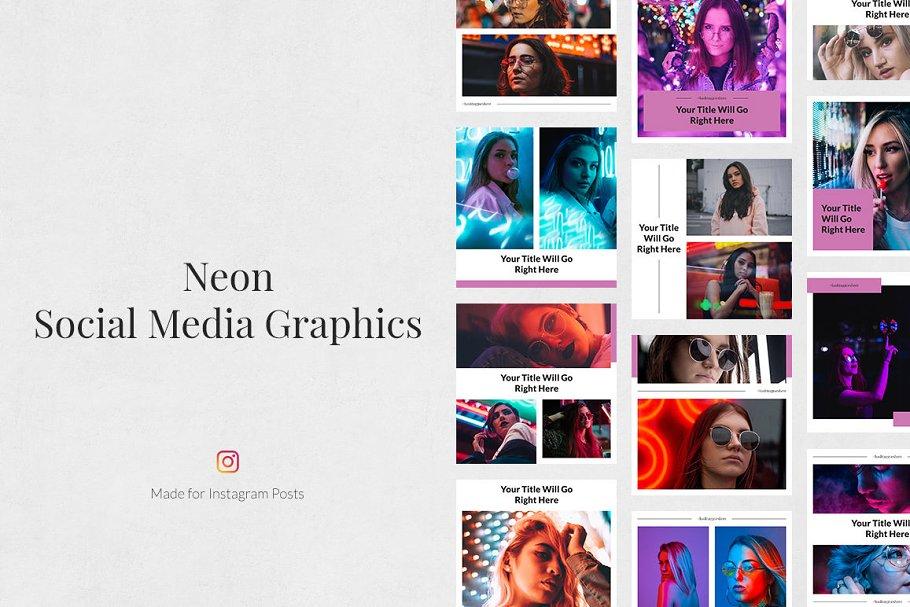 Neon Instagram Posts