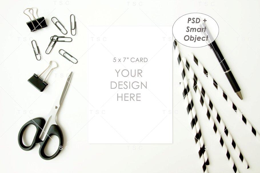 "5"" x 7"" Card Mockup"