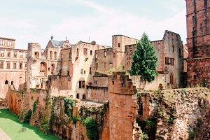 Castle ruin in Heidelberg, Germany