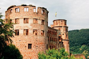 Castle ruin in Heidelberg, Germany