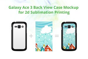 Galaxy Ace 3 2d Case Mockup