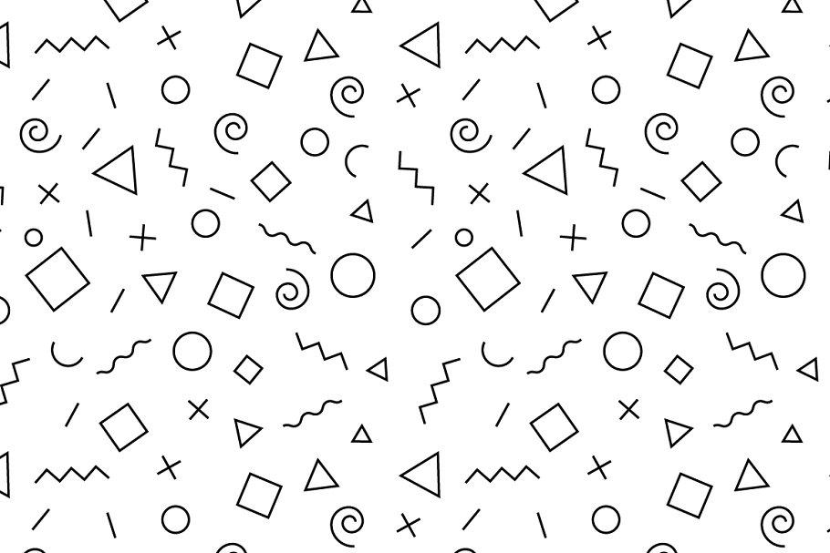 Simple memphis linear pattern
