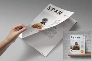 A5 Clean Magazine Template