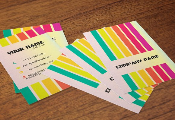 Rainbow business card business card templates creative market reheart Choice Image