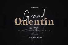 Grand Quentin Font Duo by  in Sans Serif Fonts