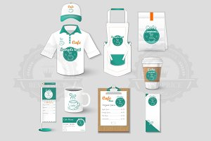 Set of restaurant corporate identity