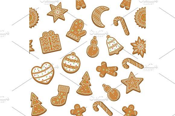 Cartoon Christmas Cookies Background